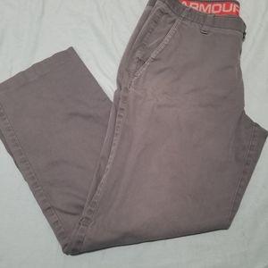 Mens Under Armour Bluish Grey Pant 38 X 32